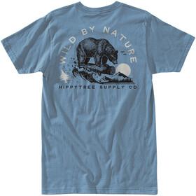 Hippy Tree Loggin T-Shirt Heren, blue
